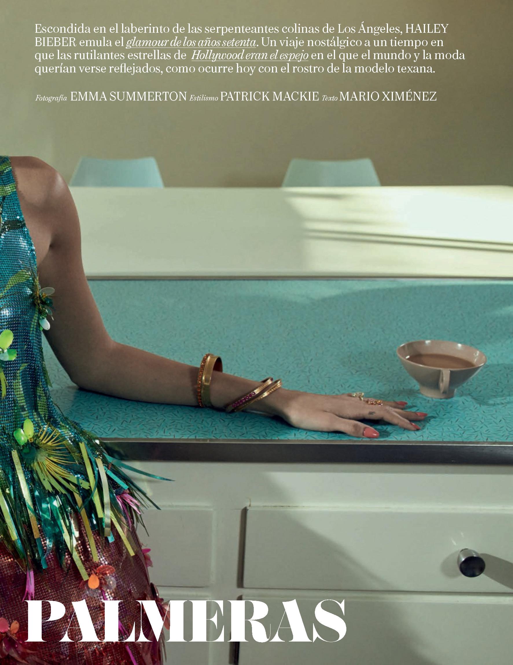 Hailey Bieber Vogue Spain