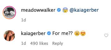 Meadow Walker Flirty Kaia Gerber