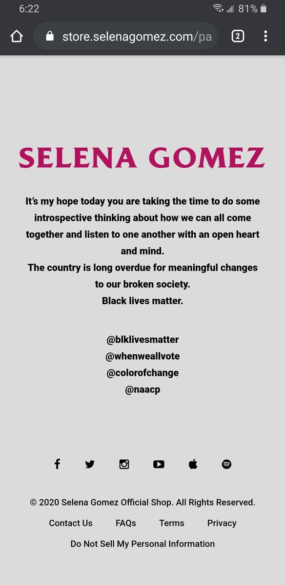 Selena Gomez Store