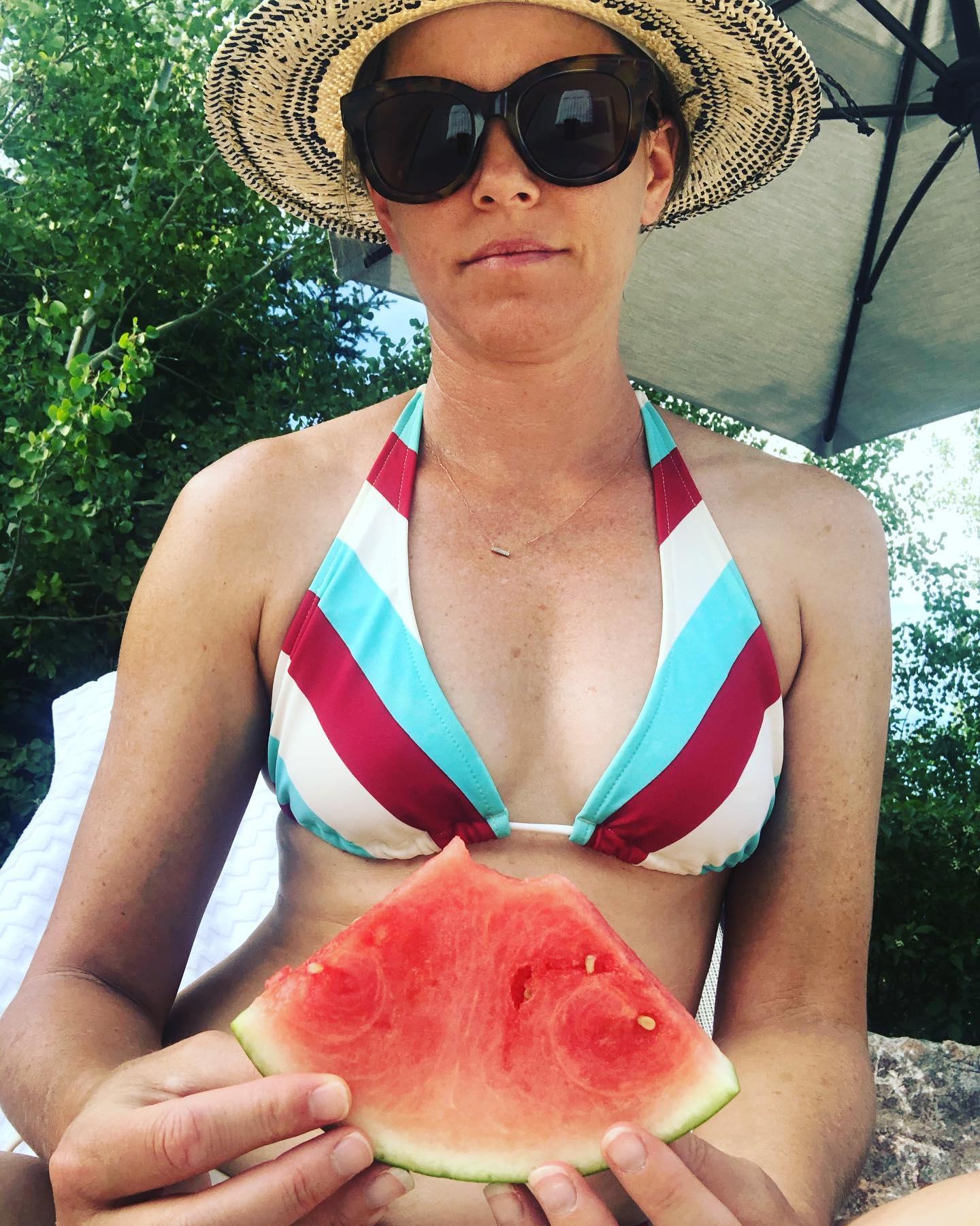 Elizabeth Banks Bikini Mask Watermelon