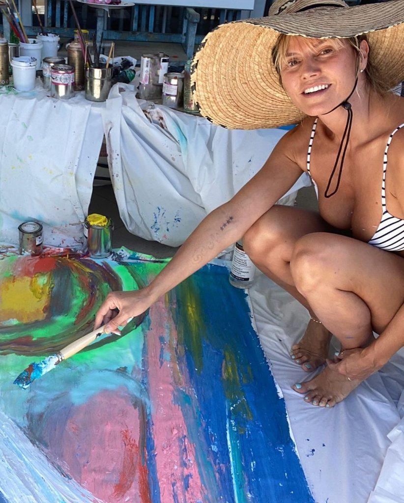 Heidi Klum the Artist!