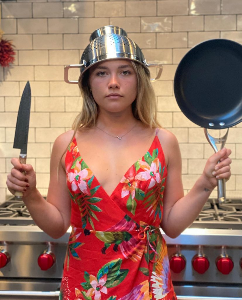 Florence Pugh Throwing Down in the Kitchen!
