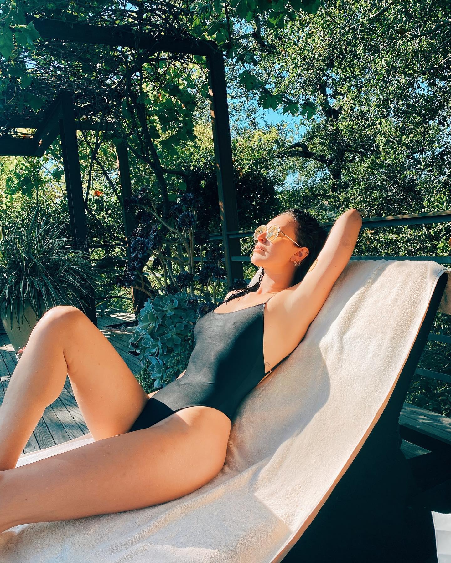 Rumer Willis Lounge Wet Bikini