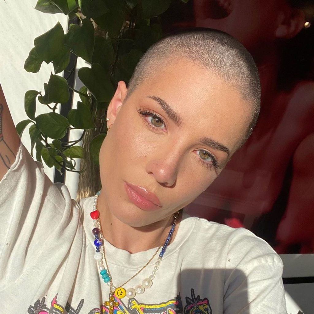 Halsey Shaves Her Head!