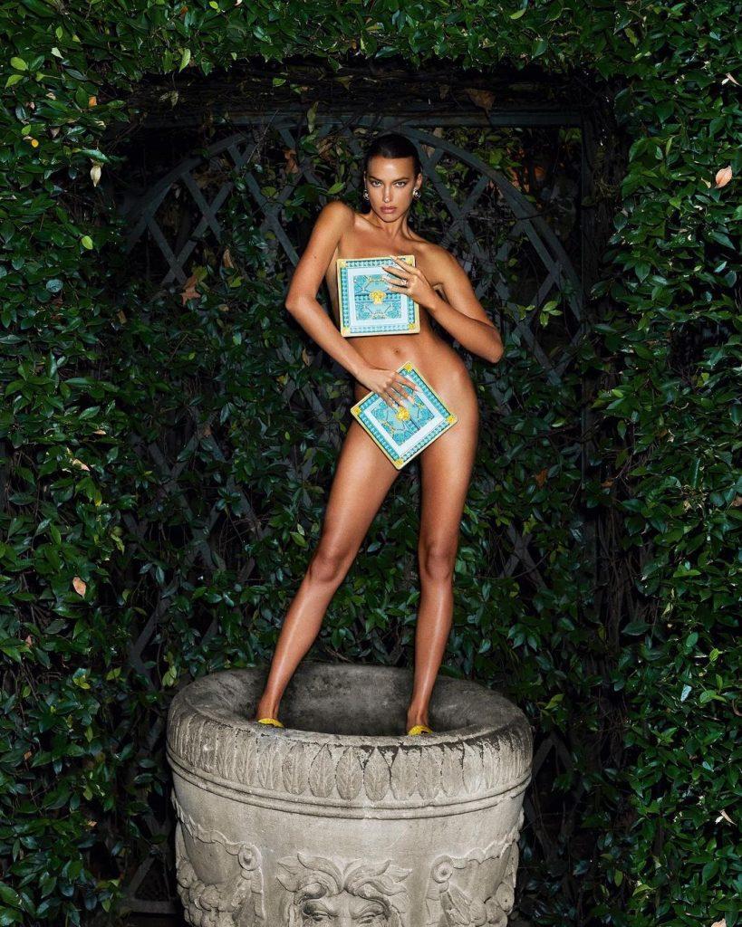 Irina Shayk is All Legs for Versace!