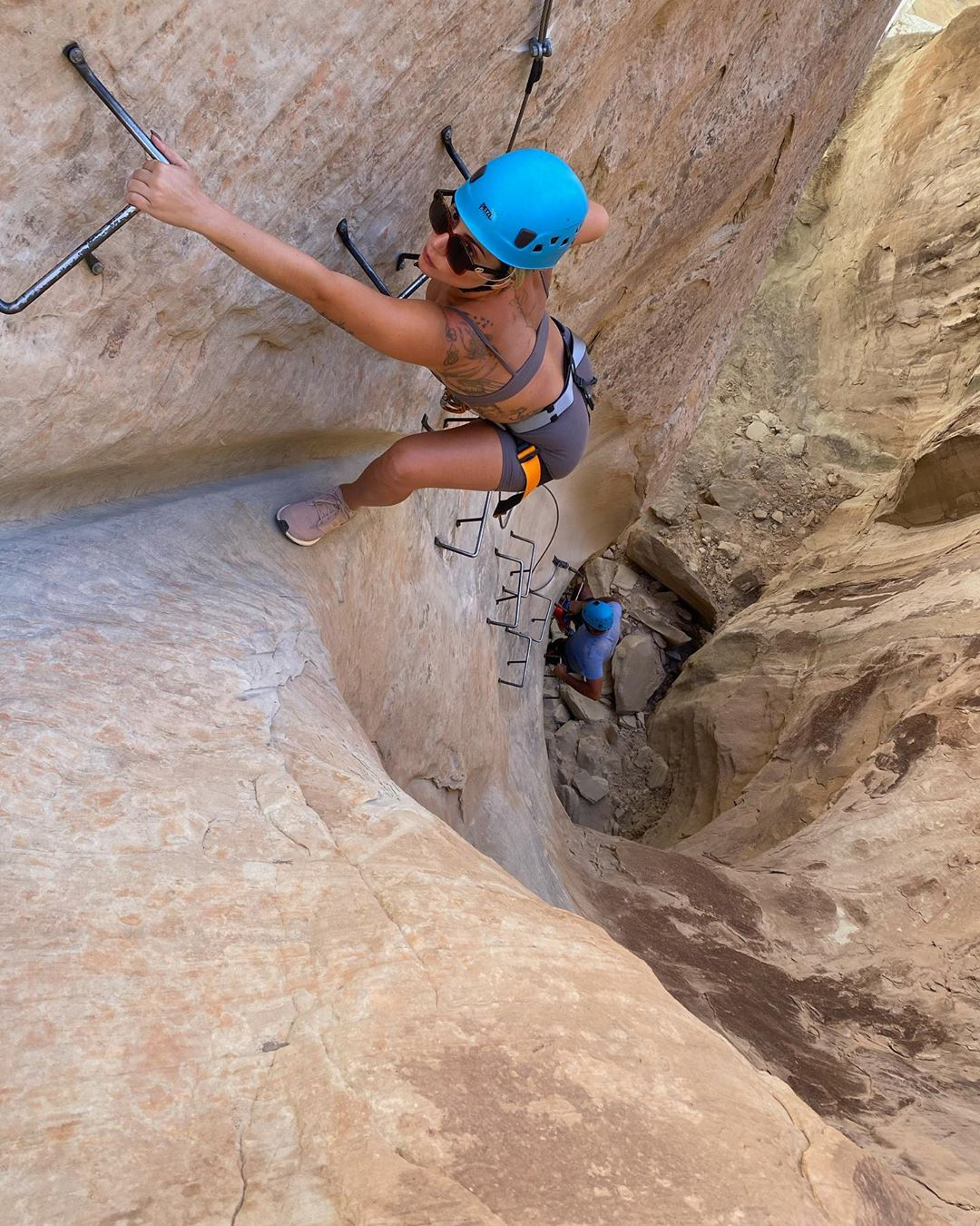 Lady Gaga Rock Climbing