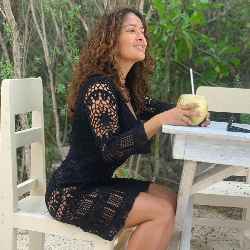 Salma Hayek Loves a Good Coconut!