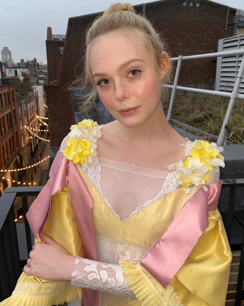 Elle Fanning Dresses Up!
