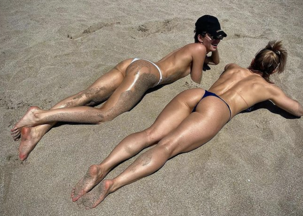 Former UFC Fighter Alexandra Albu Goes Topless at the Beach With a Friend