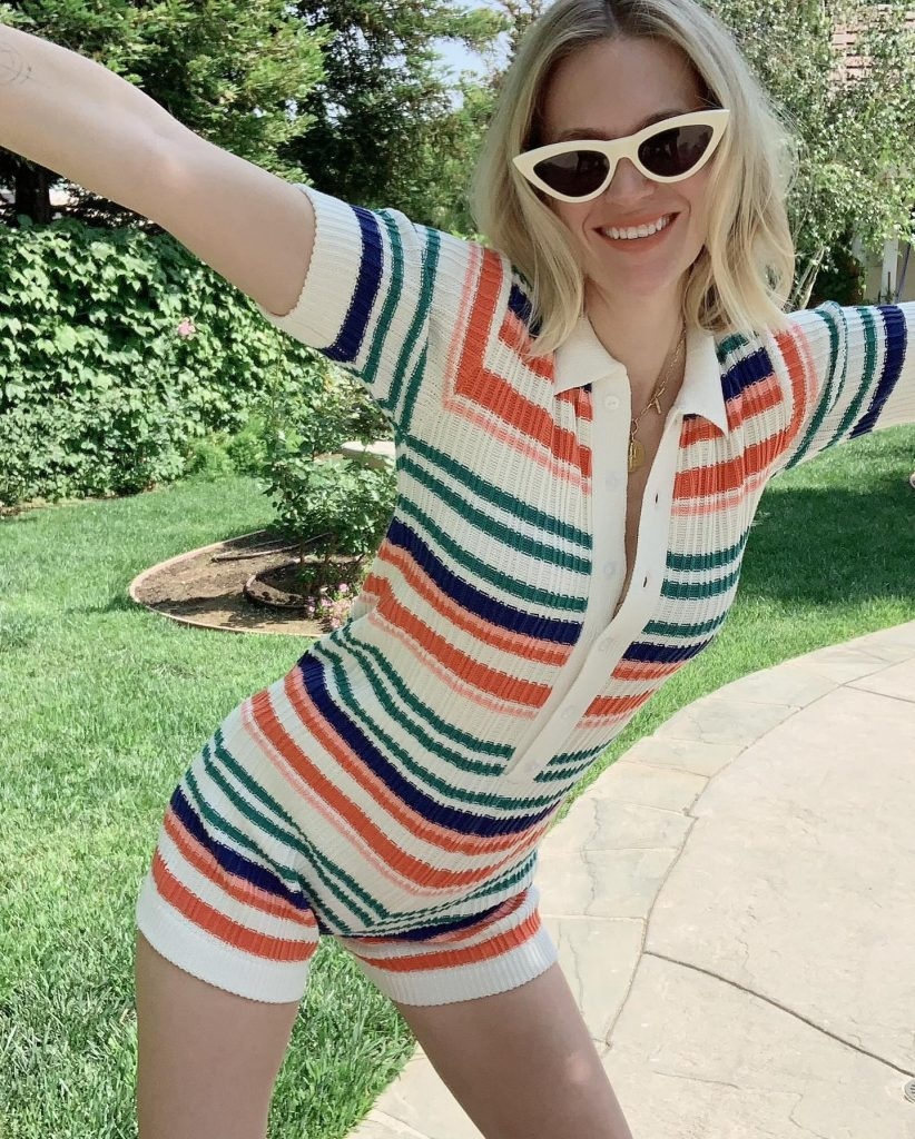 January Jones Stands Up for Rompers!