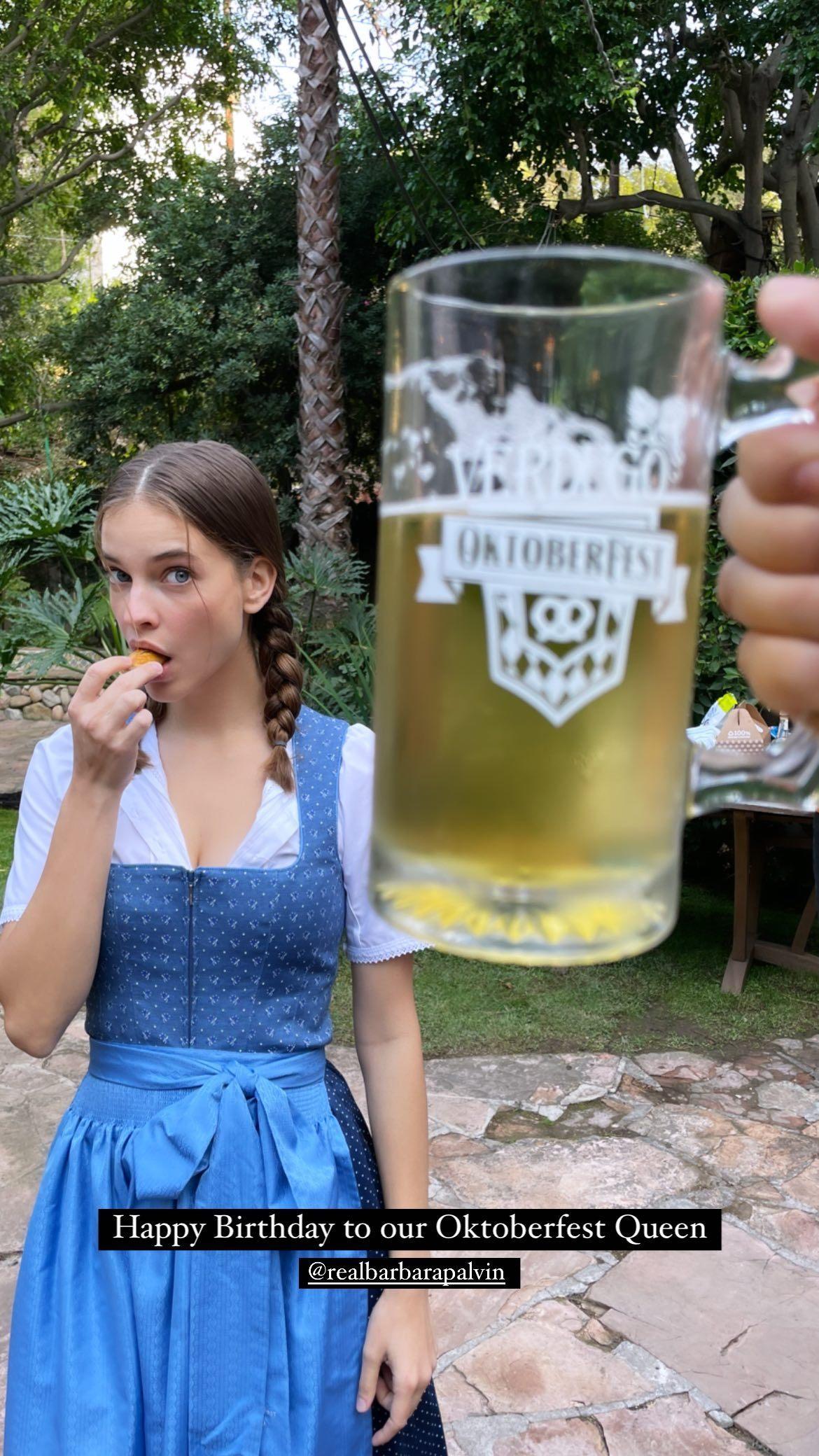 L?anniversaire de Barbara Palvin à l?Oktoberfest! - Photo 9